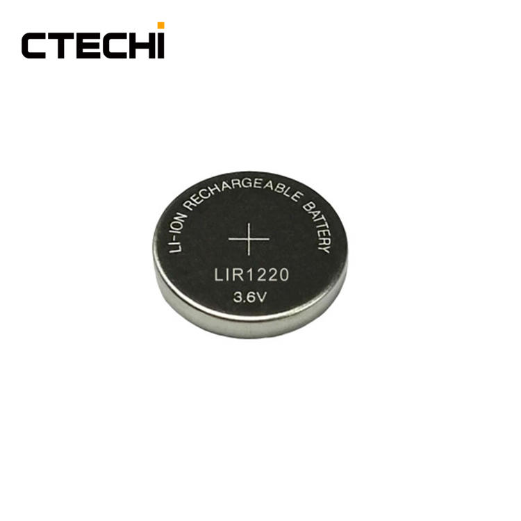 rechargeable coin battery 3.6V LIR1220