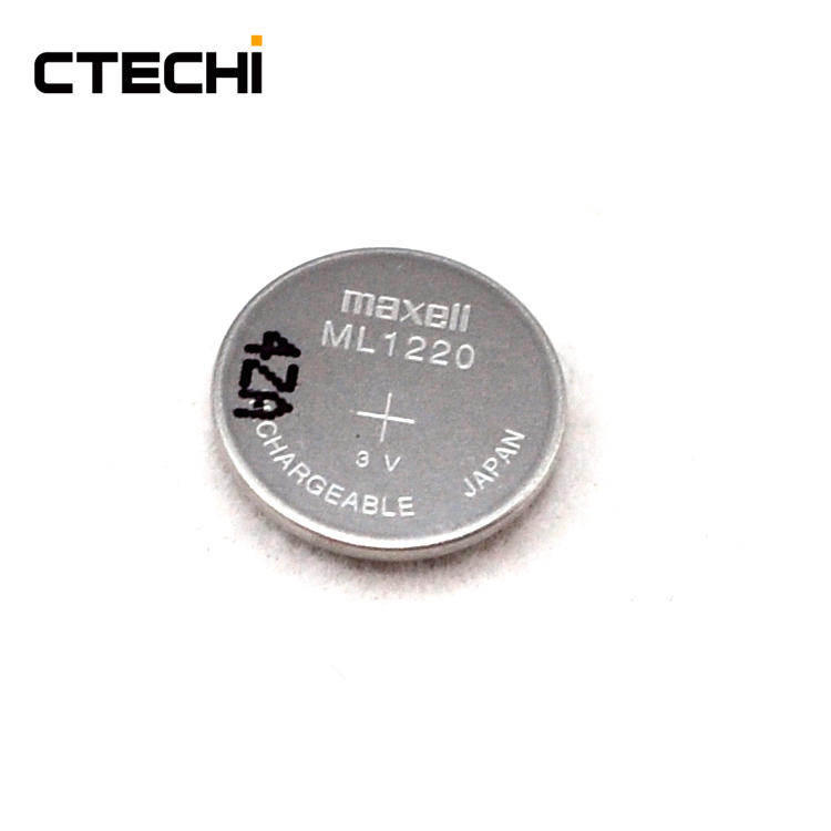 High cycle life electronic product charging button battery ML1220
