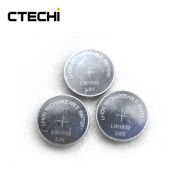 long cycle life button lithium battery LIR1632
