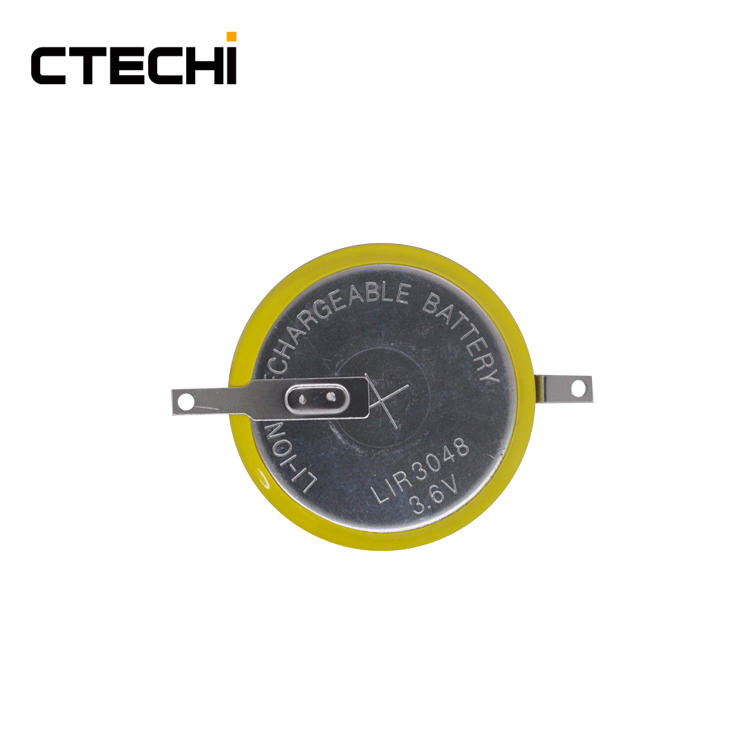 high voltage rechargeable coin battery LIR3048