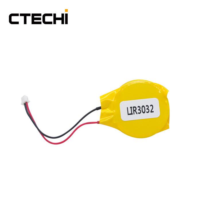 high voltage lithium button battery LIR3032