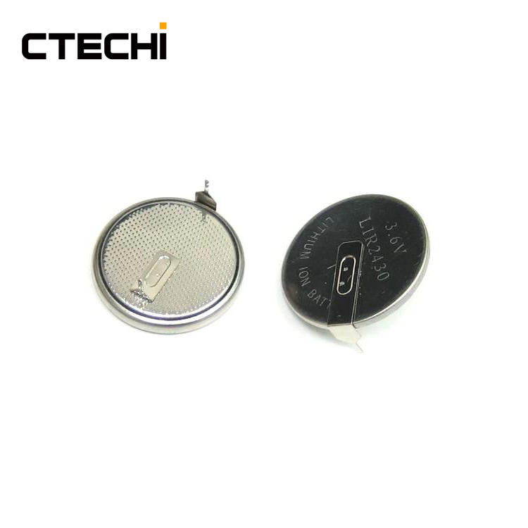 digital product rechargeable button battery LIR2430