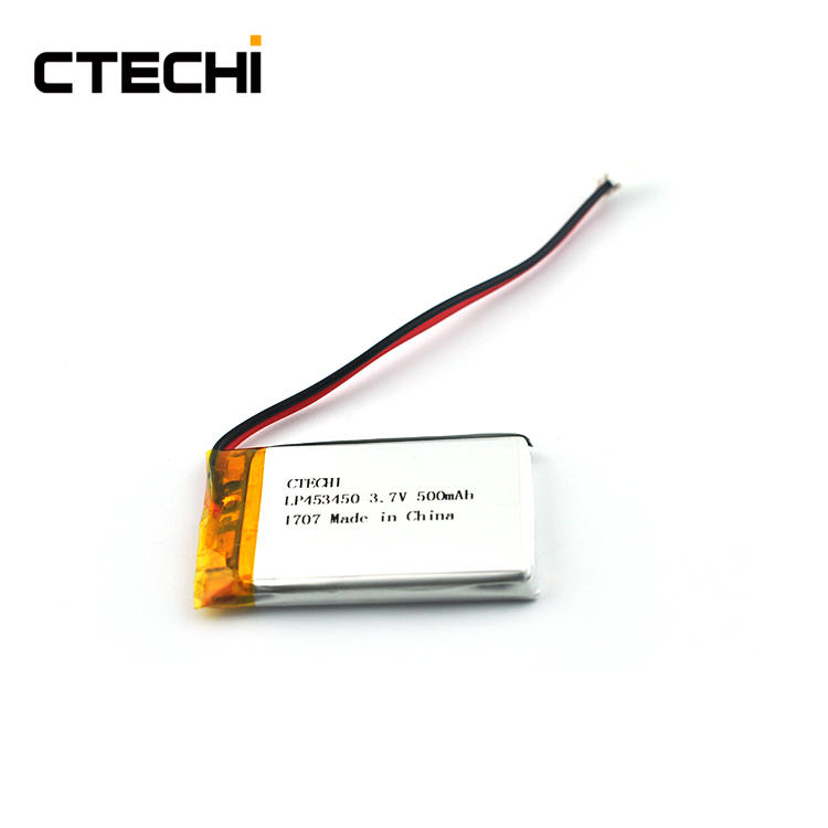 Lithium ion square polymer battery PL453450 3.7V Manufacture