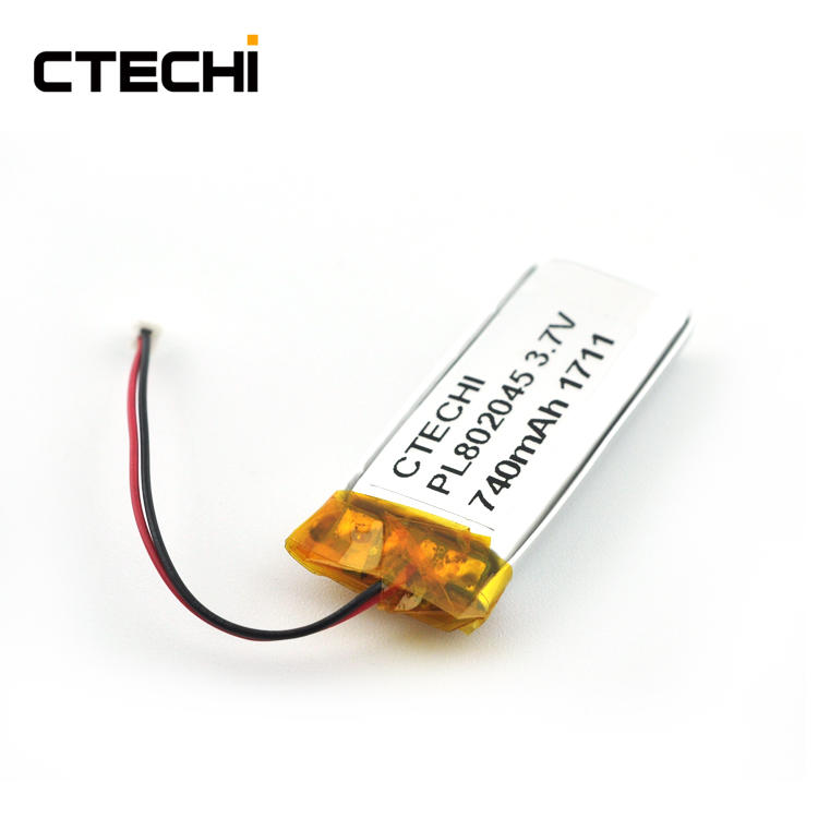 Conventional lithium ion polymer battery PL802045 3.7V Manufacture
