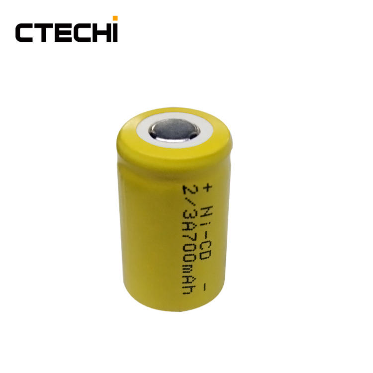 2/3A 1.2V 700mAh NiCD Rechargeable Battery