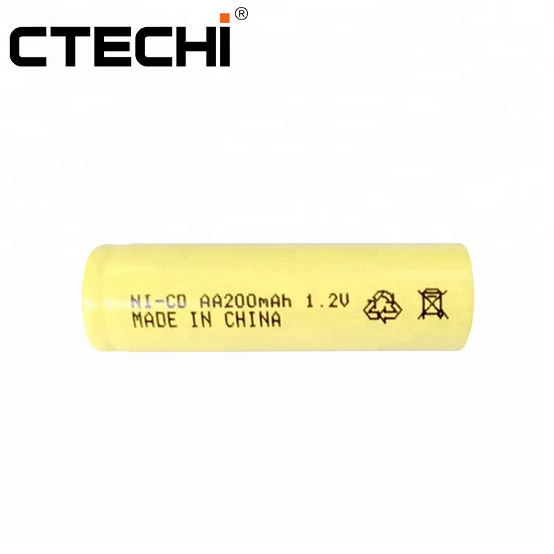 NiCd AA 200mAh 1.2V Rechargeable Battery for Power tools