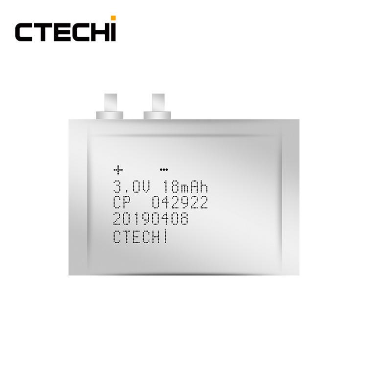 New Ultra CP042922 3V 18mAh Smart Cards RFID Thin Film Battery
