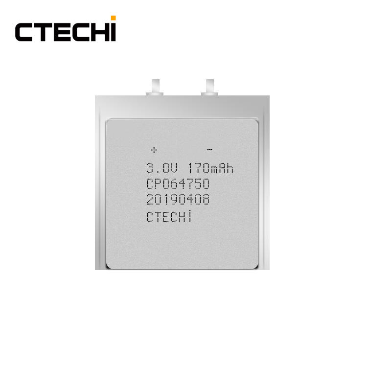 Customized 3V 170mAh CP Battery RFID Ultra Thin Film Battery