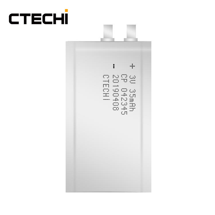 Smallest 3V 35mAh Prismatic Credit Card RFID Ultra Micro Battery