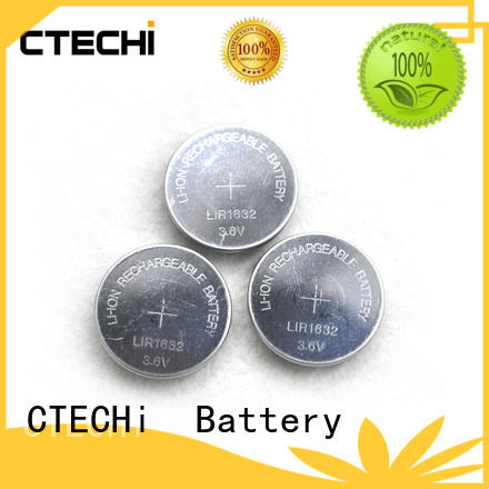 CTECHi capacity lithium button cell batteries rechargeable manufacturer for watch
