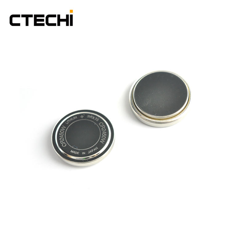 CR2450W 3V 550mAh Manganese Dioxide Lithium Batteries for TPMS