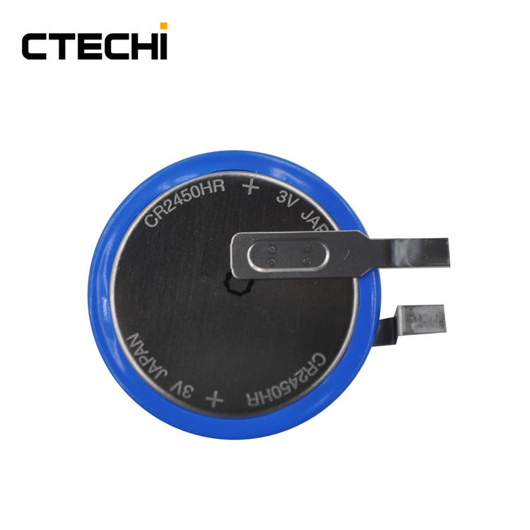 CR2450HR 3V 550mAh Primary Button Cell for Tracking Locating Devices