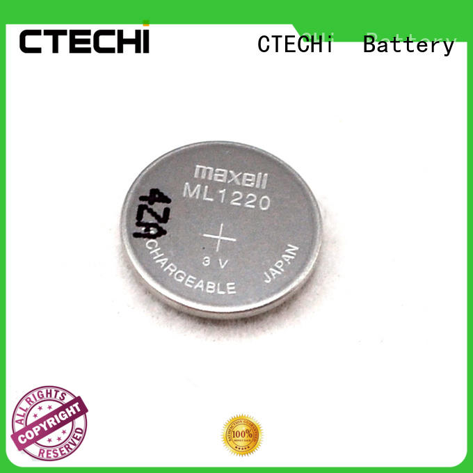 CTECHi button rechargeable coin cell design for calculator