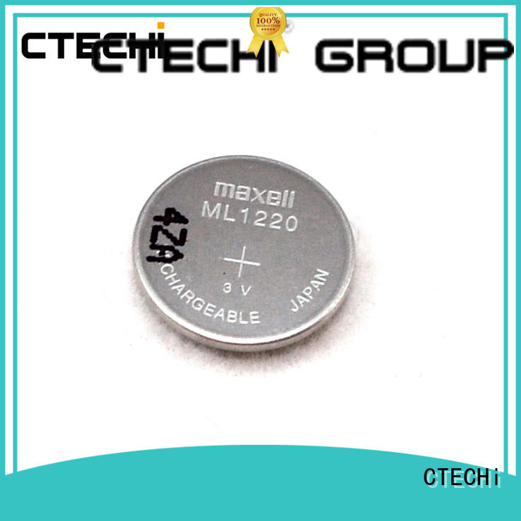CTECHi digital lithium button cell batteries rechargeable design for household