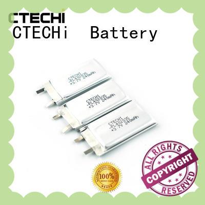 li-polymer battery life for electronics device CTECHi