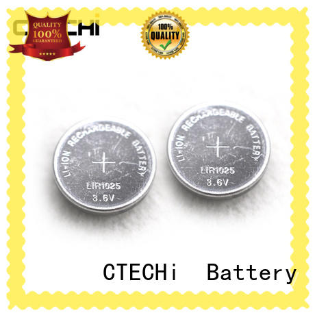 lithium button cell batteries rechargeable for car key CTECHi