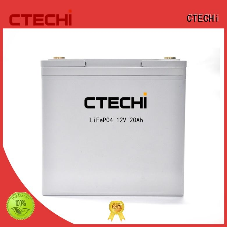 CTECHi 12v lifepo4 battery charger personalized for golf car