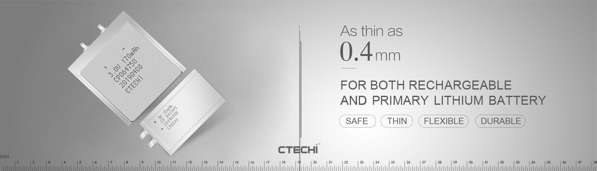 CTECHi ultra-thin battery from China for factory