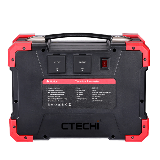 CT1500 25.2V 51Ah Portable Power Station for Outdoor Camping Hiking