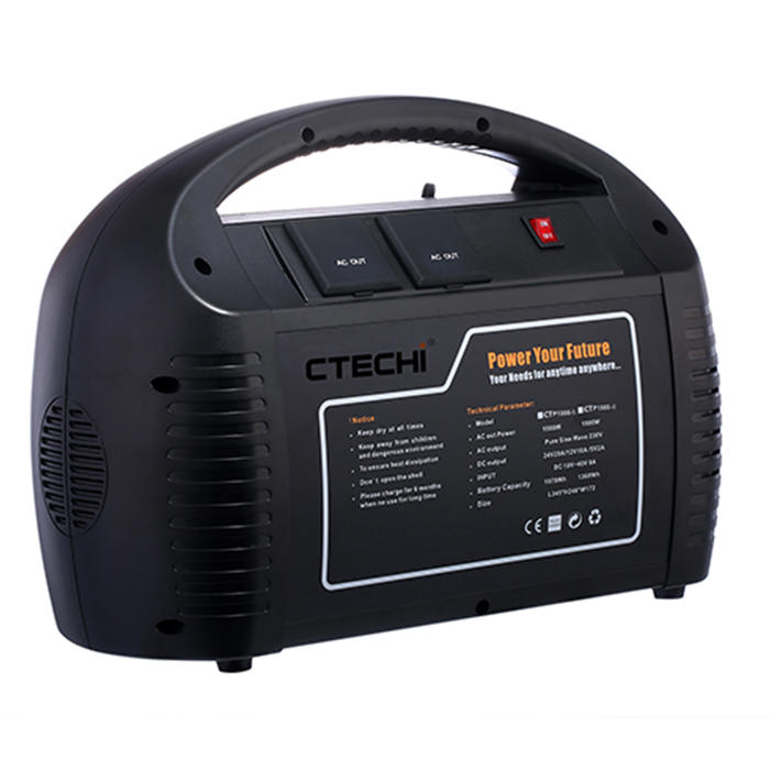 CT1000-II 25.9V 41.6Ah Portable Power Station for Outdoor Camping Hiking