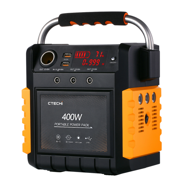 CT400 10.8V 35.7Ah Portable Power Station for Outdoor Camping Hiking