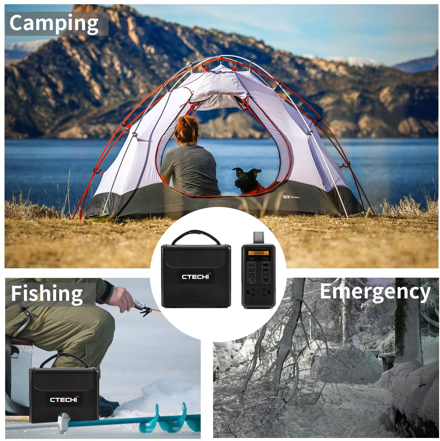 CTECHi 1500w power station customized for camping-7