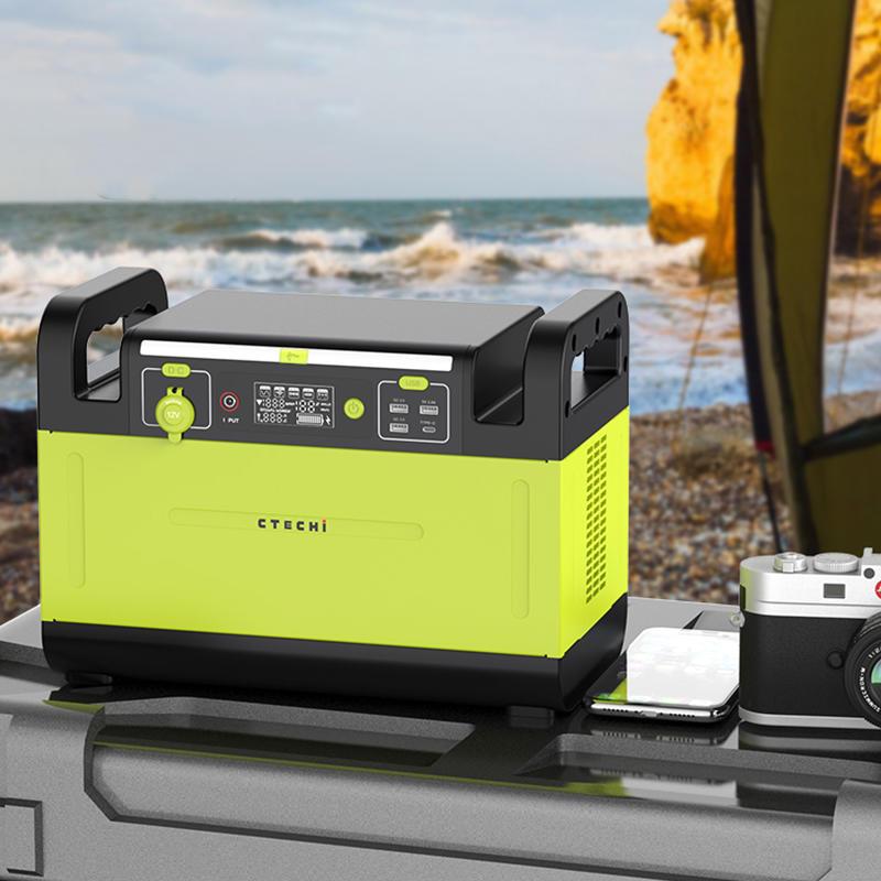 1500W Portable Solar Power Bank Station 110V 220V for Camping UPS