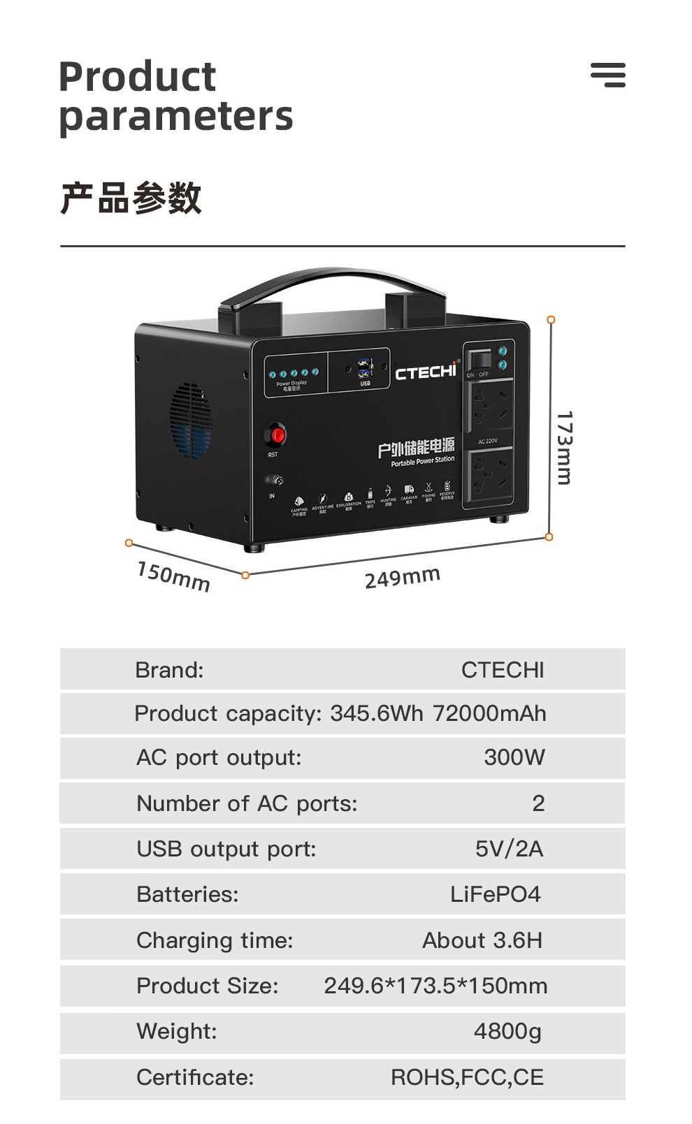CTECHi emergency power bank customized for hospital-2