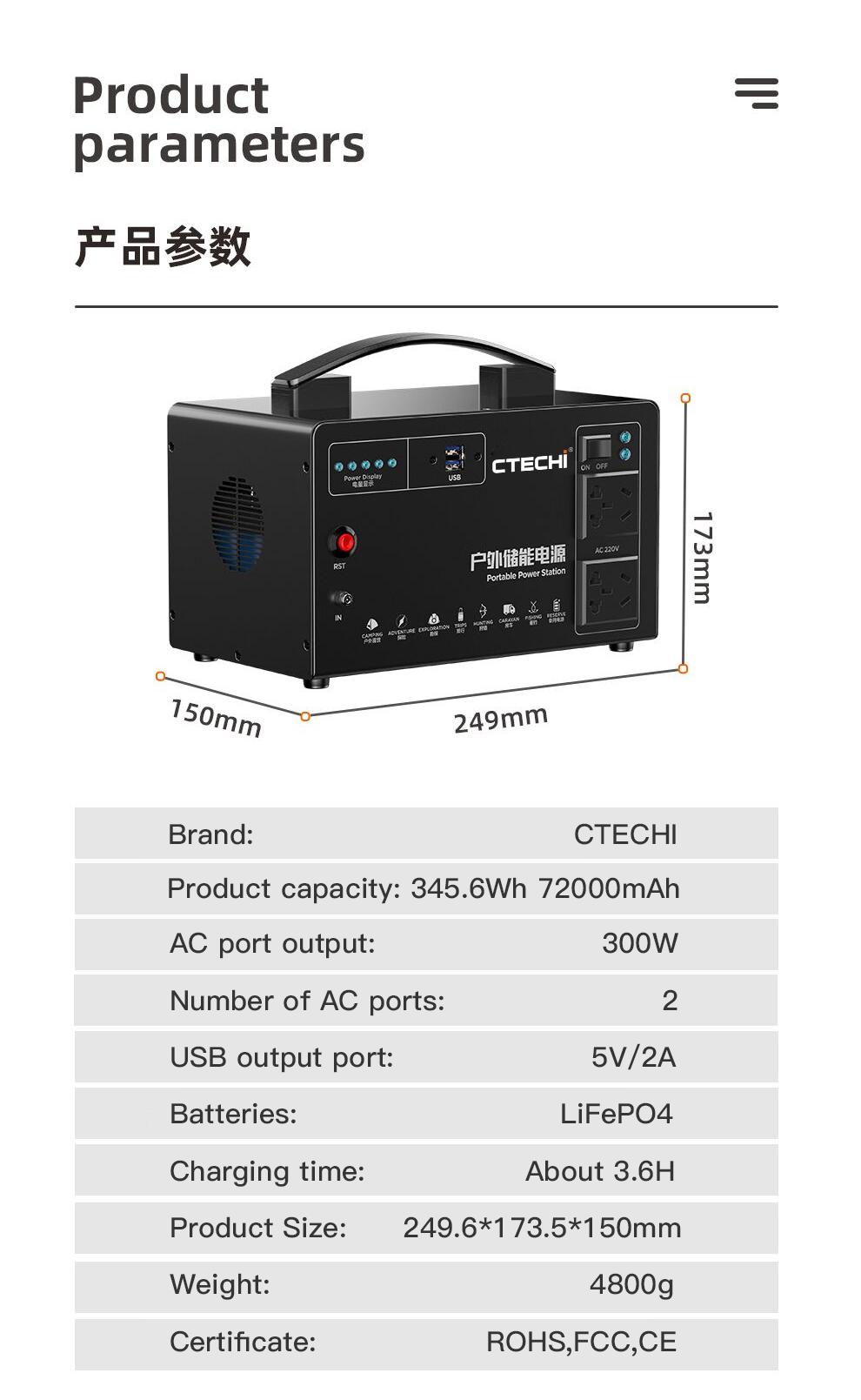 CTECHi emergency power bank customized for hospital-2