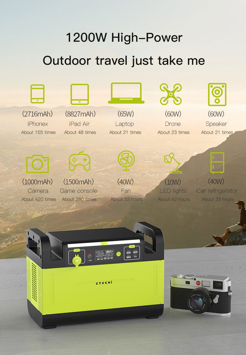 CTECHi stable lithium battery power station manufacturer for outdoor-12