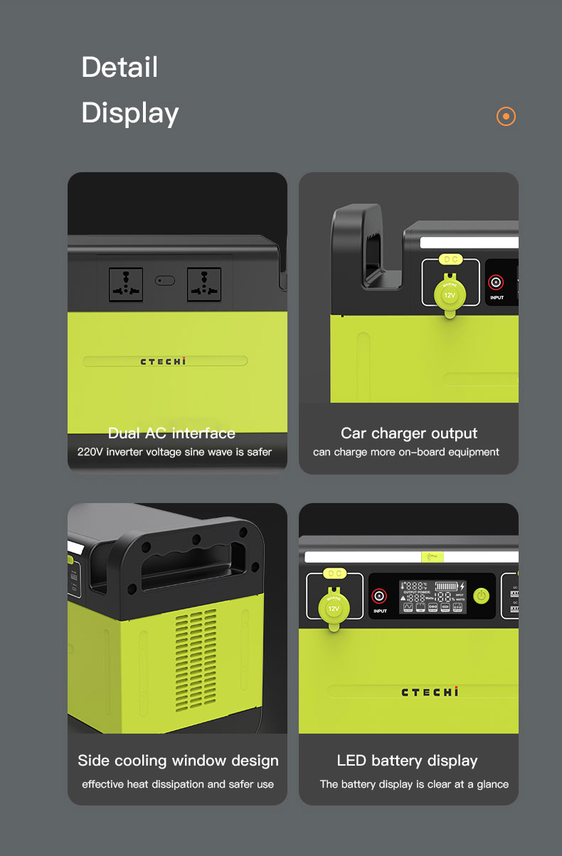 CTECHi stable lithium battery power station manufacturer for outdoor-14