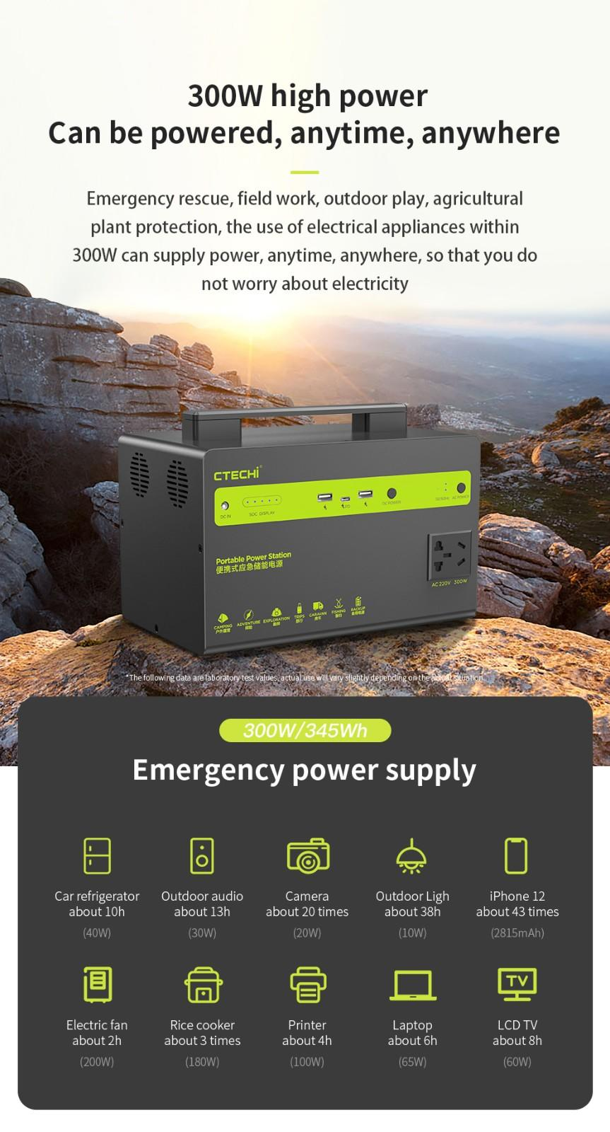 certificated outdoor power station customized for hospital