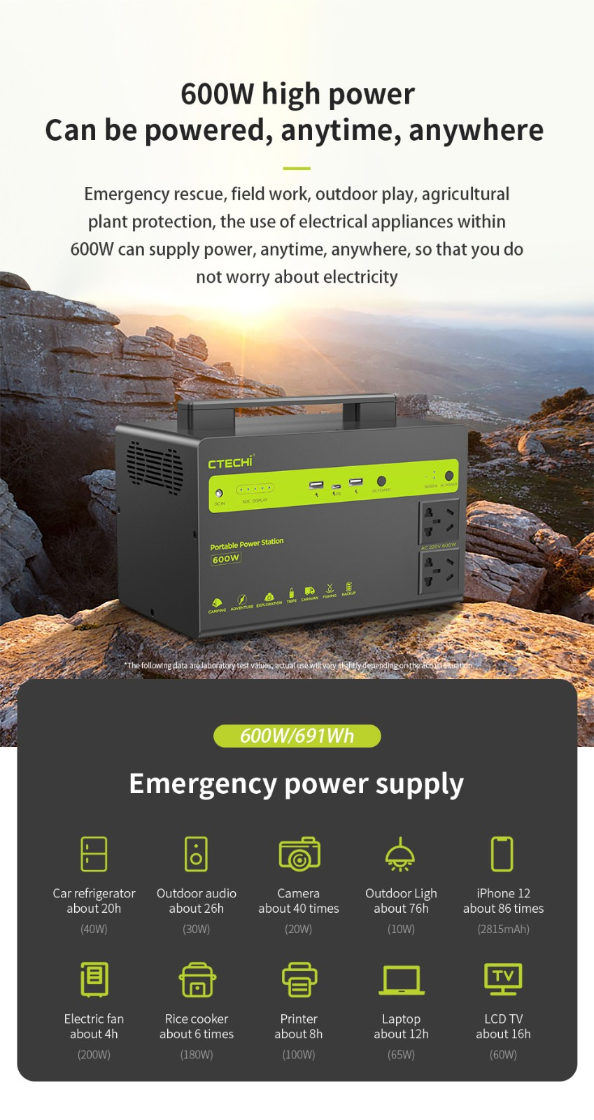 CTECHi outdoor power station personalized for household-6