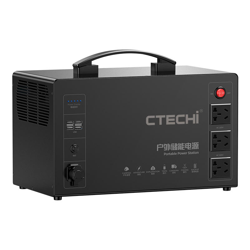 CTECHI Portable Power Station Emergency Power Supply Solar Power Generator System for Home Outdoor 2000W Solar Generator