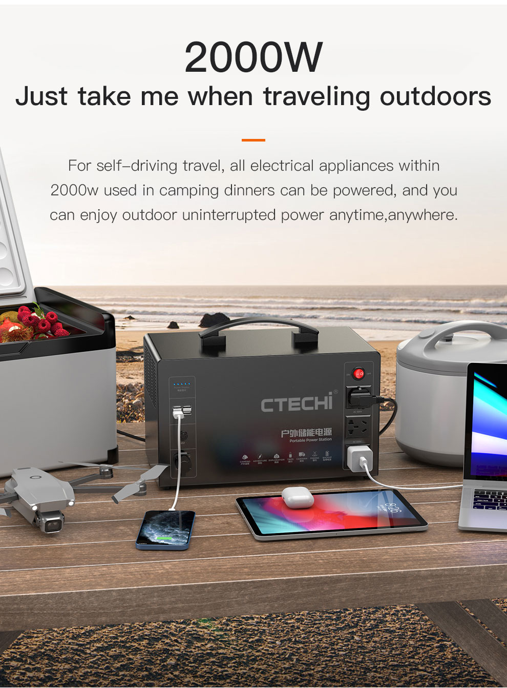 CTECHi quality lithium portable power station factory for outdoor-10