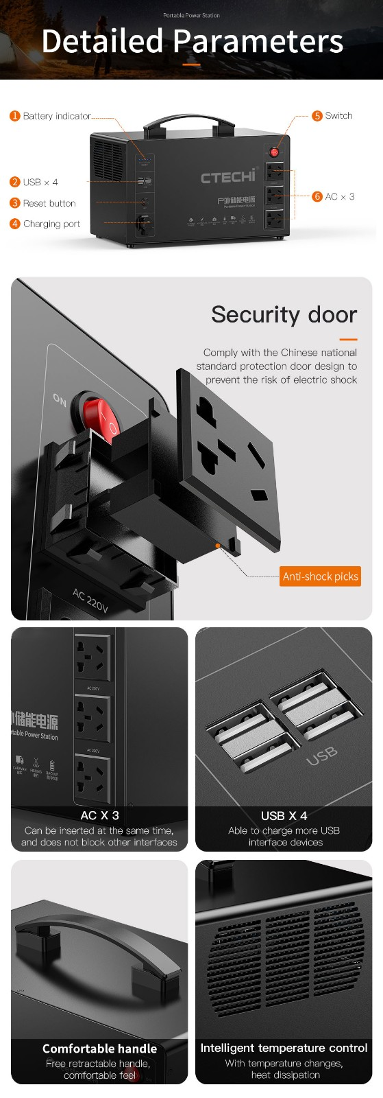 CTECHi quality lithium portable power station factory for outdoor-18