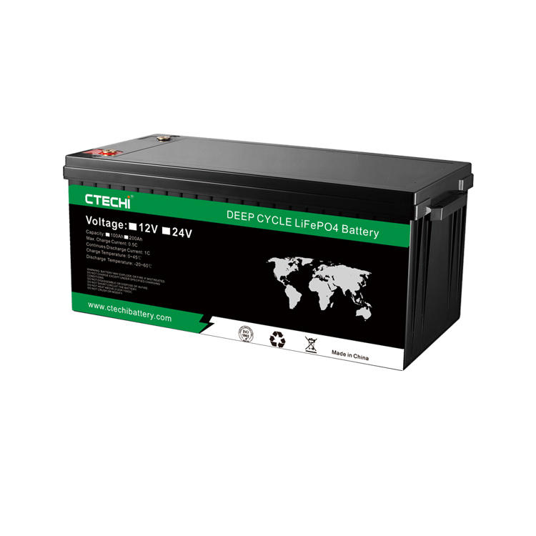 high capacity solar energy storage LiFePO4 battery pack 12V 200Ah