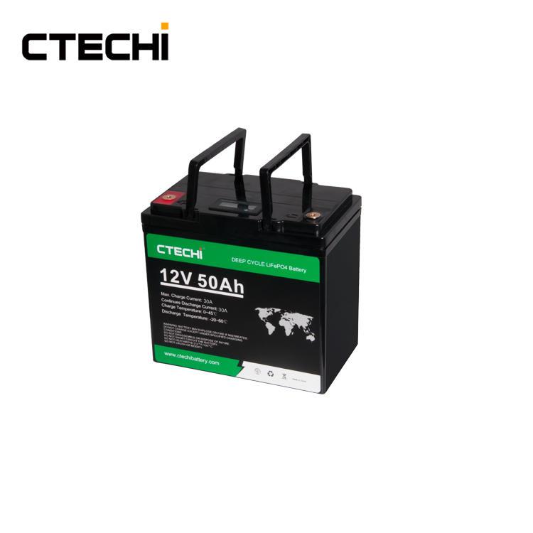 CTECHI LiFePO4 Battery Pack 12V 50Ah LFP UPS Solar System Marine Boat ESS Energy Storage System