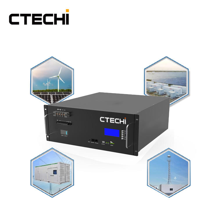 CTECHI 5G Telecom Base Station Battery 48V 50Ah Power System Solution UPS Backup Battery