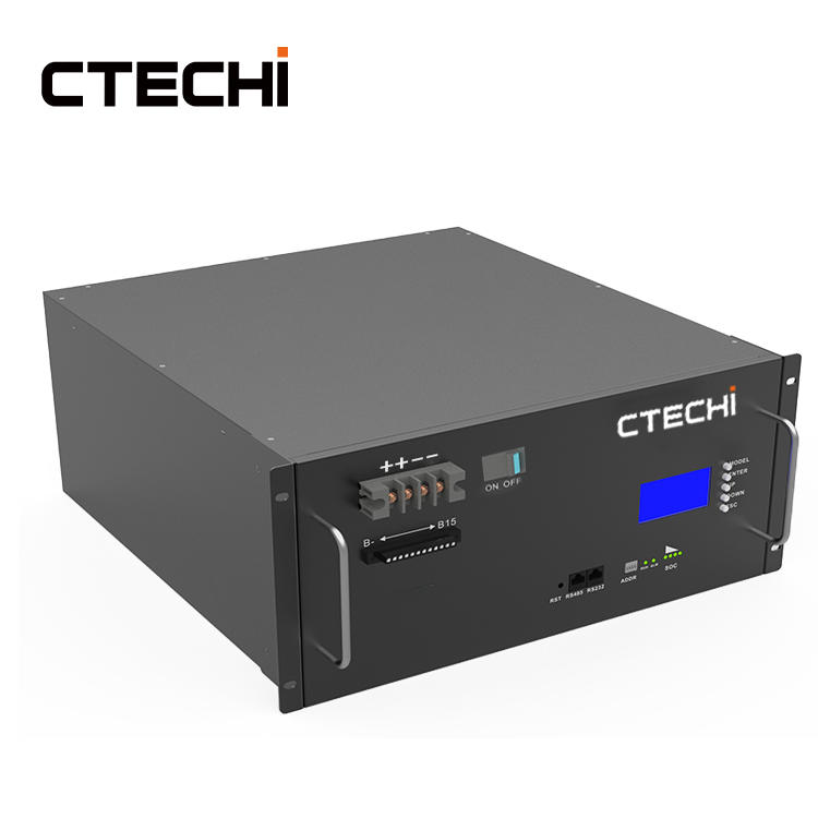 CTECHI 48V 100Ah LiFePO4 Battery Pack Module 5G Telecom Base Station UPS Energy Storage