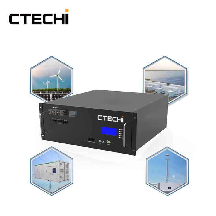 CTECHI 48V 100Ah LiFePO4 Battery Pack Module 5G Telecom Base Station UPS Energy Storage