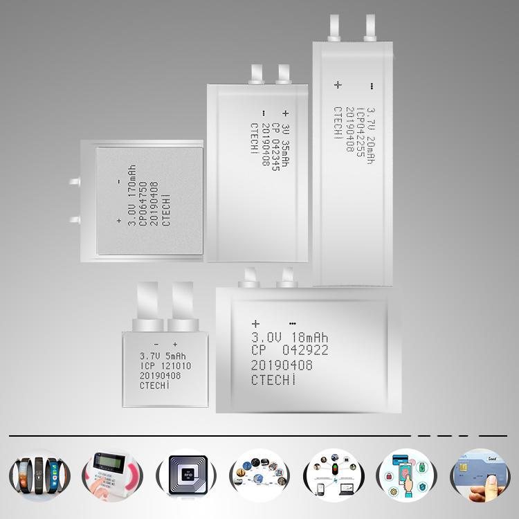 Customized 3V 170mAh CP Battery RFID Ultra Thin Film Battery-2