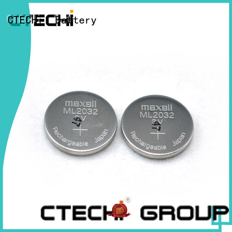 CTECHi rechargeable coin cell battery manufacturer for car key