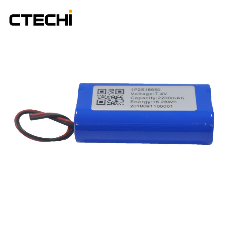 customize lithium battery pack 7.4V 2200mAh