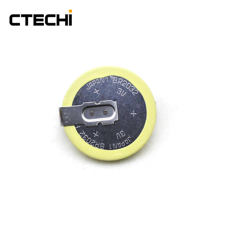 High temperature resistance button battery BR2032 3V