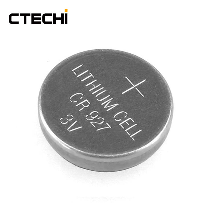 miniature lithium button battery CR927 3V