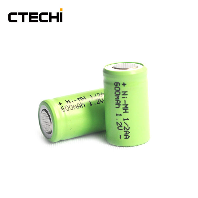 NI-MH rechargeable battery 1/2AA size 1.2V