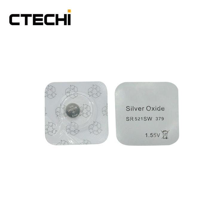 Silver Oxide Button watch Battery SR521 1.55V