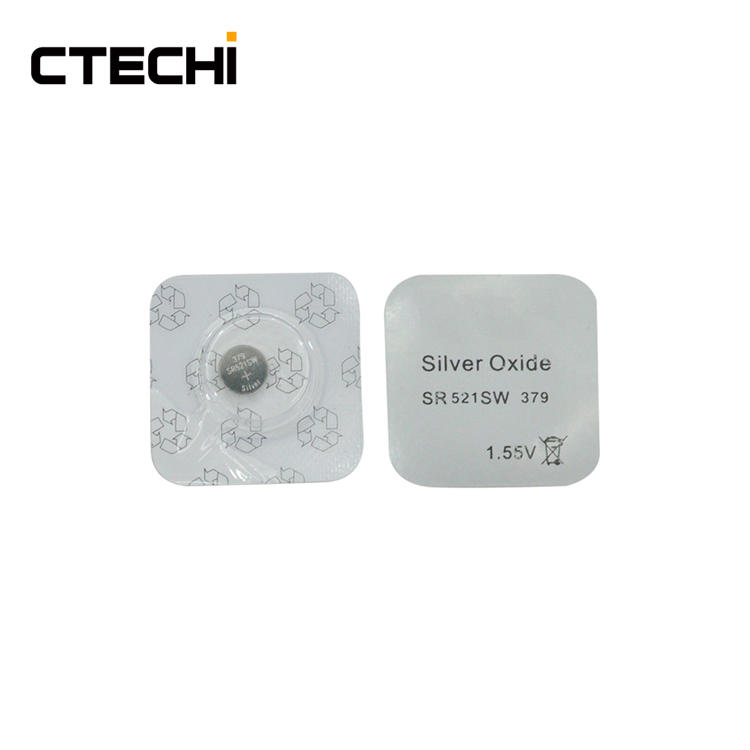 Silver Oxide Button watch Battery SR521 1.55V