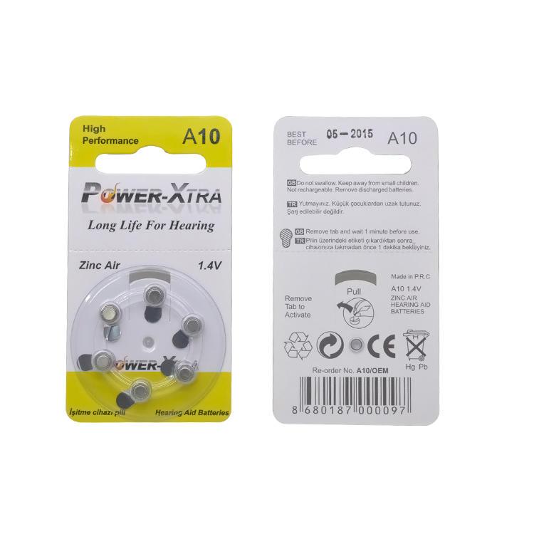 Hearing Aid Zinc Air battery 1.4V